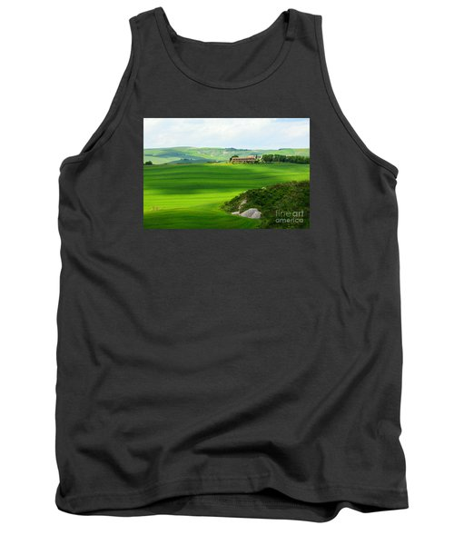 Green Escape In Tuscany Tank Top
