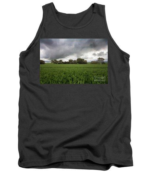 Tank Top featuring the photograph Green Fields 5 by Douglas Barnard