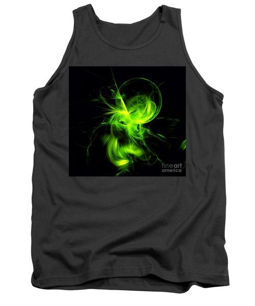 Green Flame Fractal Tank Top