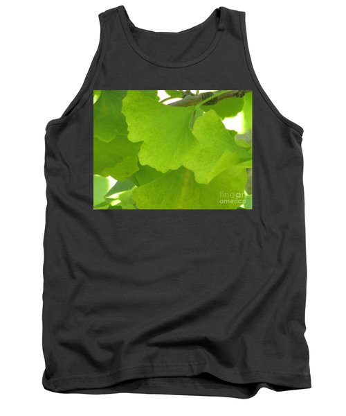 Green Ginkgo Tank Top