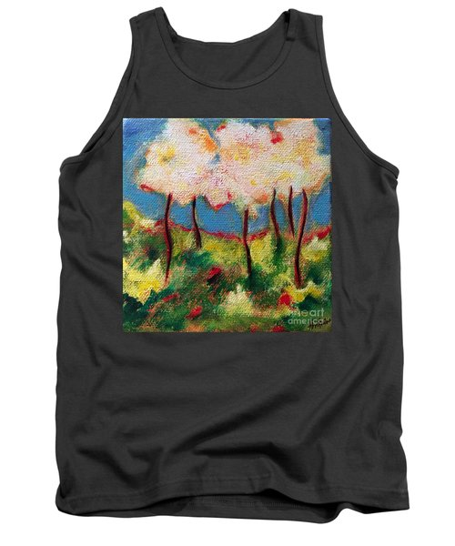Tank Top featuring the painting Green Glade by Elizabeth Fontaine-Barr