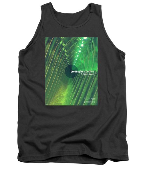 Tank Top featuring the photograph Green Glass Bottles by Phil Perkins