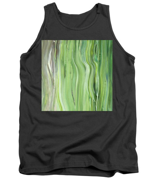 Green Gray Organic Abstract Art For Interior Decor II Tank Top