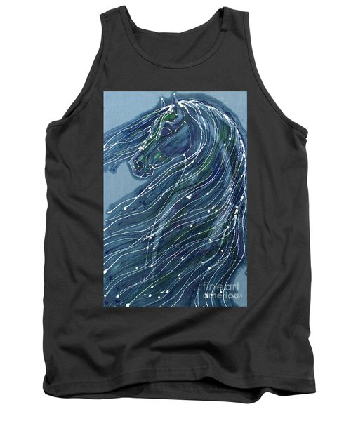 Green Horse With Flying Mane Tank Top