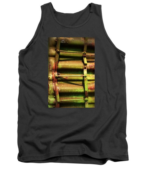 Tank Top featuring the photograph Green Ladder by Newel Hunter