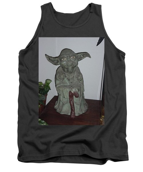 Green Man Tank Top by Val Oconnor