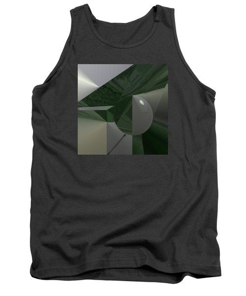 Green N Gray Tank Top