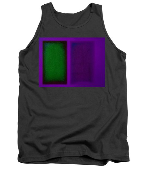 Green On Magenta Tank Top by Charles Stuart