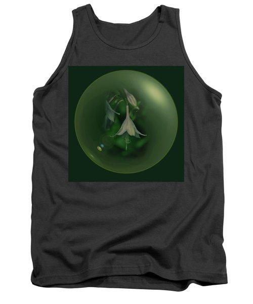 Green Orb Flower Tank Top