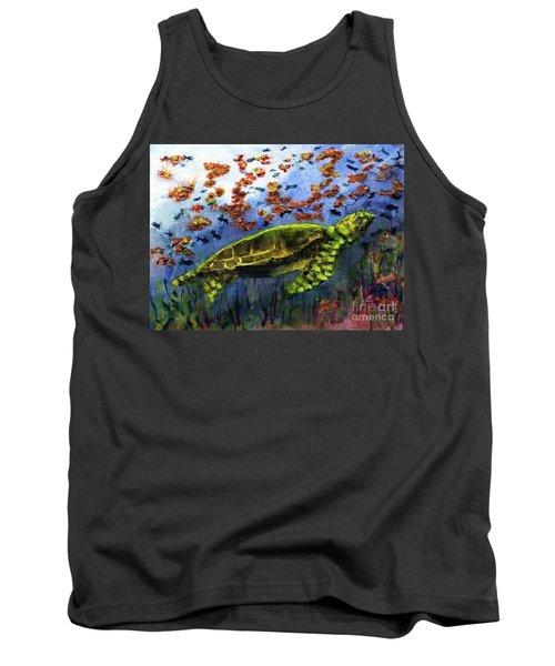 Green Sea Turtle Tank Top