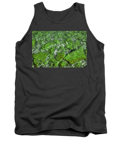 Tank Top featuring the photograph Green Stone Waters by LeeAnn McLaneGoetz McLaneGoetzStudioLLCcom