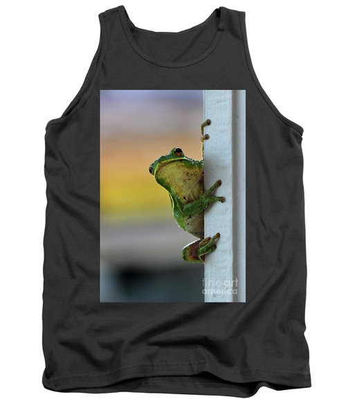 Green Tree Frog  It's Not Easy Being Green Tank Top