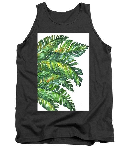 Green Tropic  Tank Top