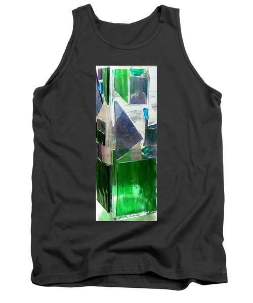 Tank Top featuring the glass art Green Vase by Jamie Frier
