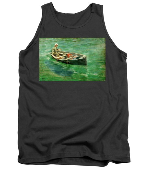 Tank Top featuring the painting Green Waters by Henry Scott Tuke