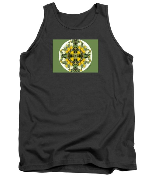 Green Yellow Kaleidoscope Tank Top