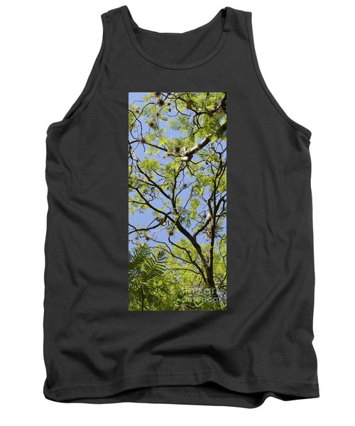 Greenery Center Panel Tank Top