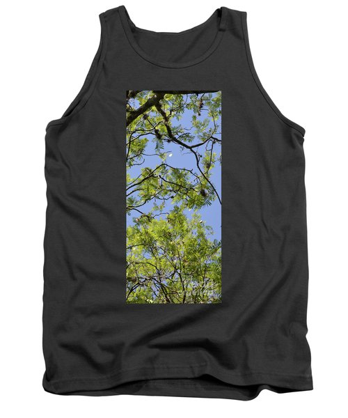 Greenery Right Panel Tank Top