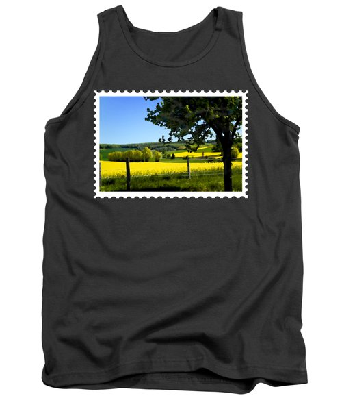 Greens And Golds Of Spring Farm Field Tank Top