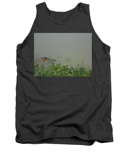 Tank Top featuring the photograph Greenwood Gator Farm by Cynthia Powell
