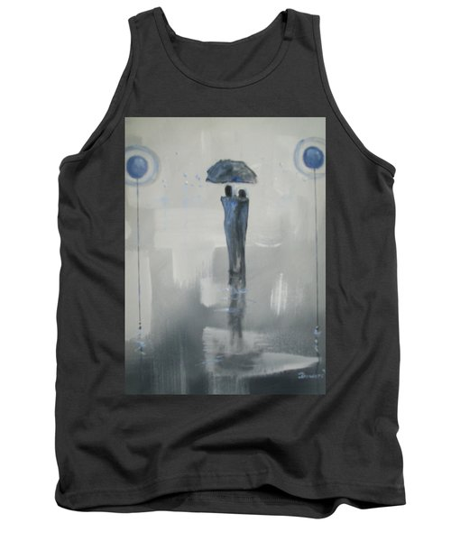 Grey Day Romance Tank Top by Raymond Doward