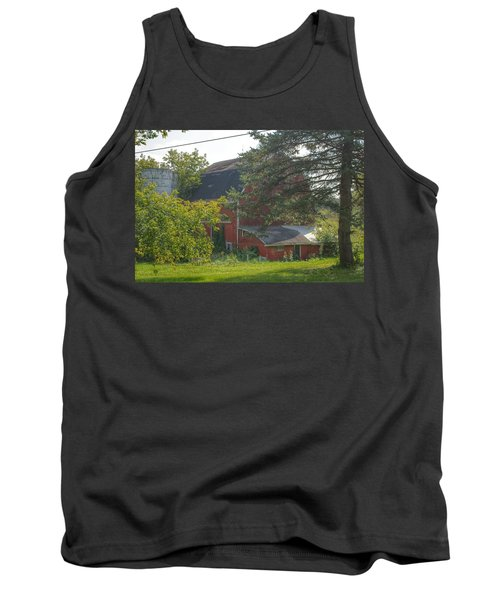 0015 - Grey Road Red I Tank Top