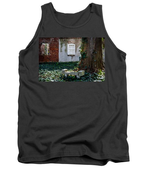 Grieving Bench At St. Philip's Cemetery Tank Top