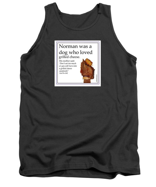 Tank Top featuring the digital art Grilled Cheese Dog by Graham Harrop