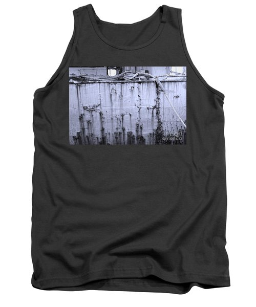 Tank Top featuring the photograph Grimy Old Ship Hull by Yali Shi