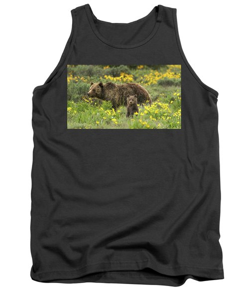 Grizzlies In The Wildflowers Tank Top