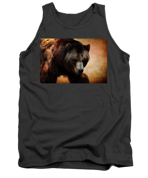 Grizzly Bear Tank Top by Judy Vincent