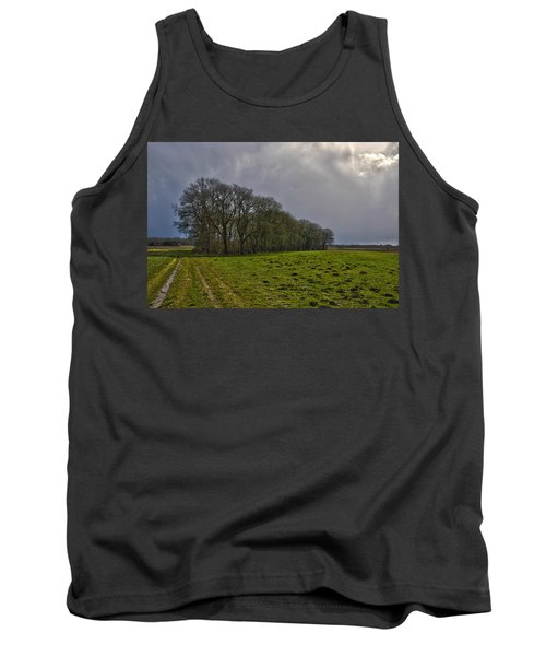 Group Of Trees Against A Dark Sky Tank Top