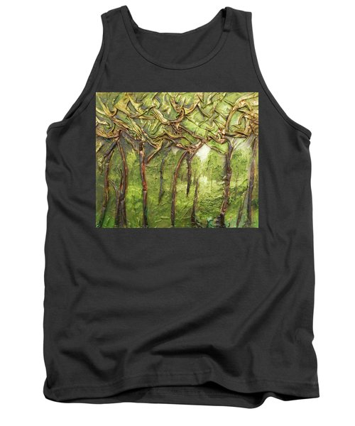 Grove Of Trees Tank Top by Angela Stout