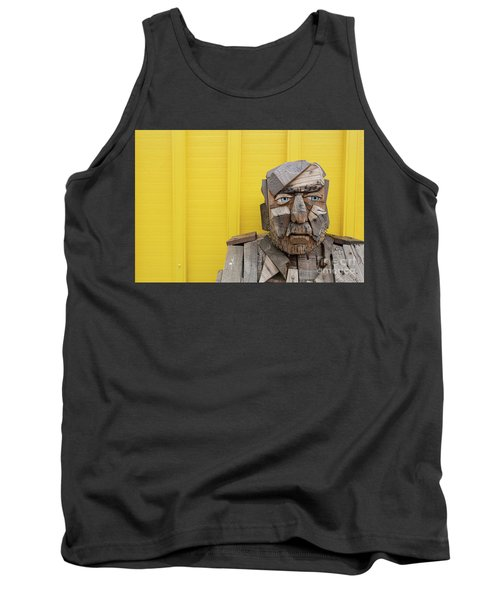 Tank Top featuring the photograph Grumpy Old Man by Edward Fielding