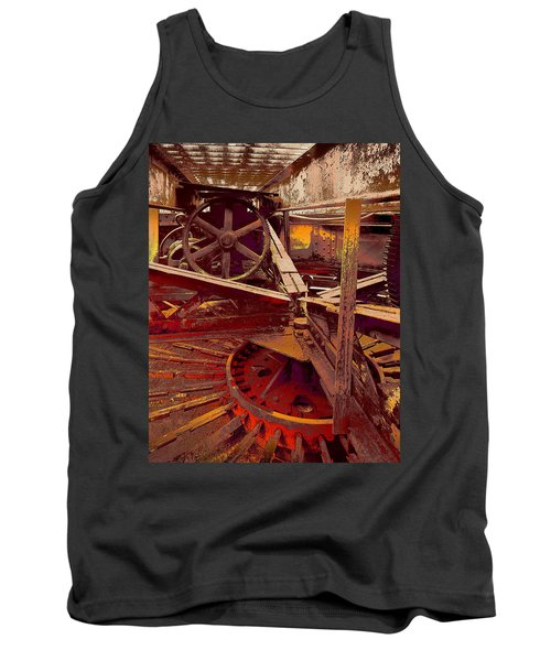 Tank Top featuring the photograph Grunge Gears by Robert Kernodle