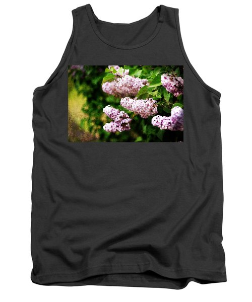 Tank Top featuring the photograph Grunge Lilacs by Antonio Romero