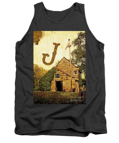 Grungy Melbourne Australia Alphabet Series Letter J Captain Jame Tank Top