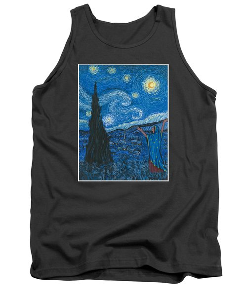 Guadalupe Visits Van Gogh Tank Top by James Roderick