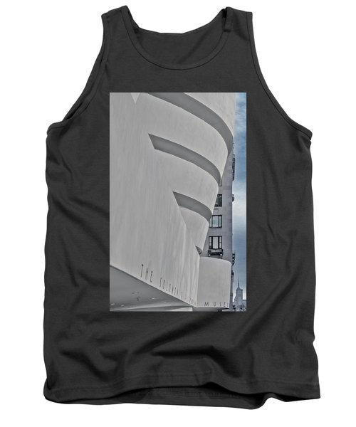 Tank Top featuring the photograph Guggenheim Museum And Esb by Susan Candelario