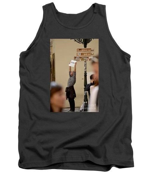 Tank Top featuring the digital art Guide by Leo Symon