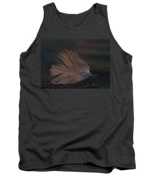 Gull Feather On A Beach Tank Top
