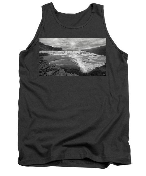 Tank Top featuring the photograph Gullfoss Waterfall No. 1 by Joe Bonita