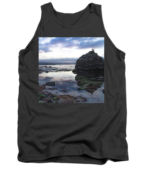 Tank Top featuring the photograph Gulls With Clouds by Lora Lee Chapman