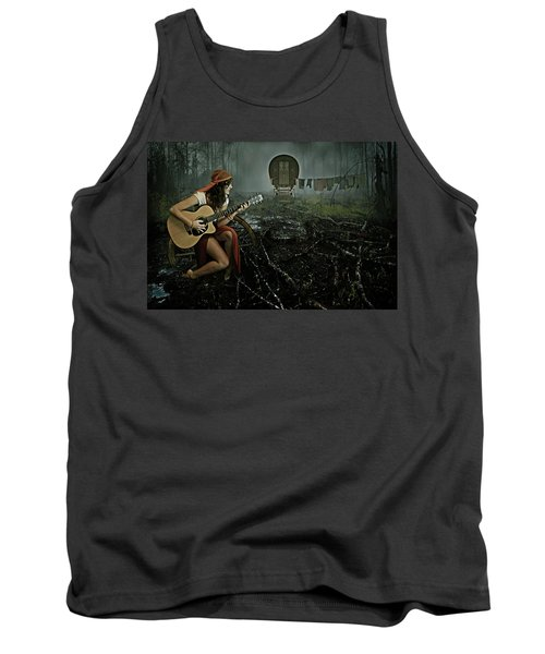 Gypsy Life Tank Top by Mihaela Pater