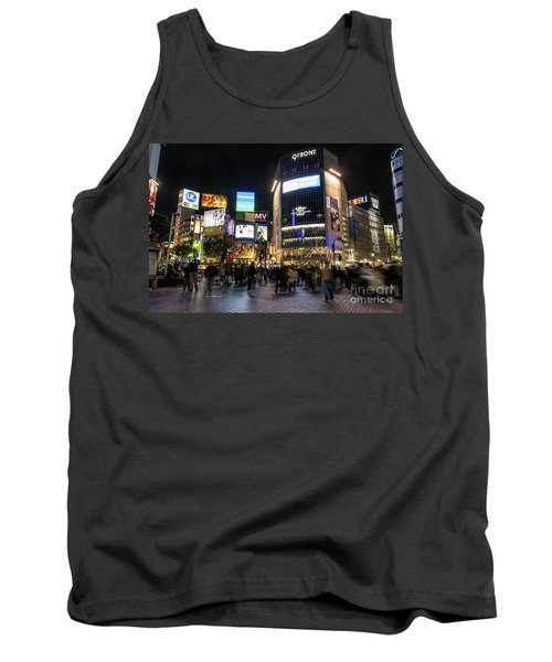 Hachiko Crossing In Shibuya Area Of Central Tokyo Japan Tank Top