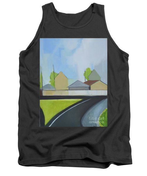 Hackensack Exit Tank Top by Ron Erickson