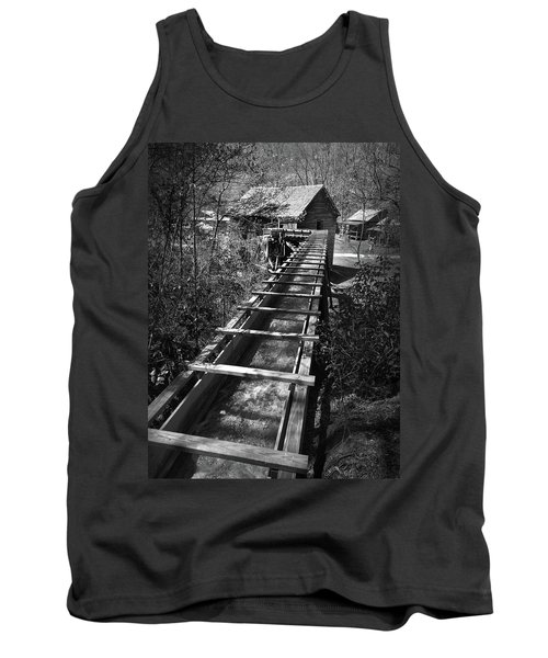 Hagood Gristmill Waterwheel At Hagood Mill Tank Top