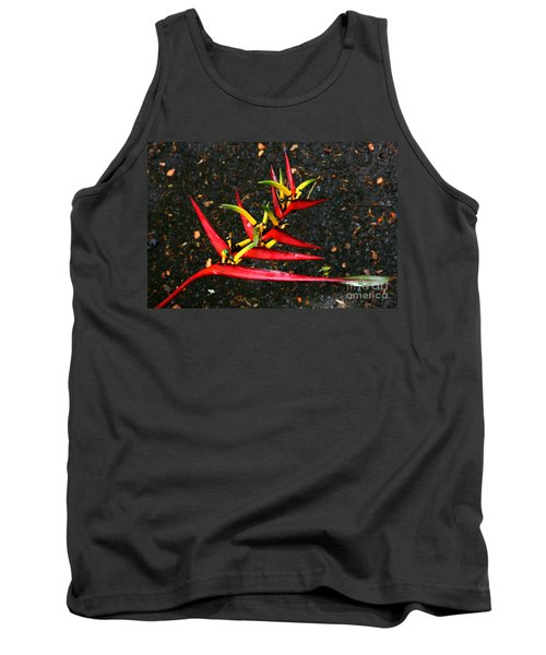 Haleconia Red Gold And Green Tank Top