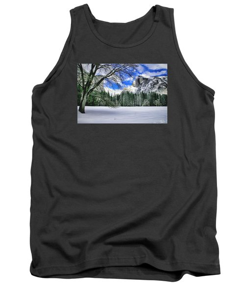 Half Dome In The Snow Tank Top