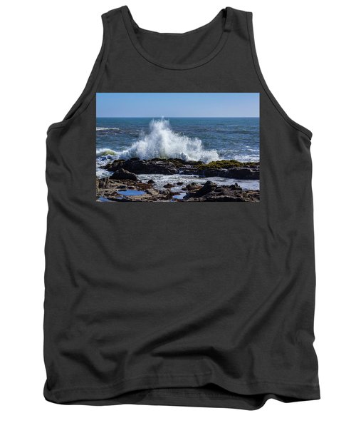 Wave Crashing On California Coast 1 Tank Top
